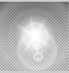 sunlight special lens flare light effect vector image