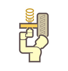technician car icon vector image