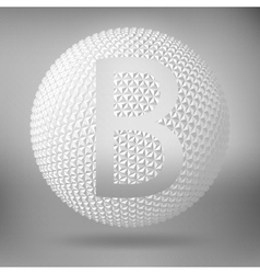 The letter B Polygonal letter Abstract Creative vector image