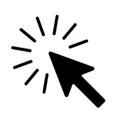 the sign of the cursor of a computer mouse vector image
