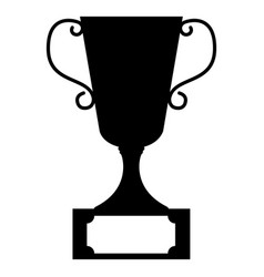 tournament trophy silhouette vector image
