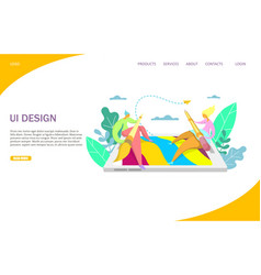 ui design website landing page design vector image