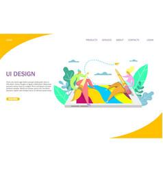 ui design website landing page design vector image