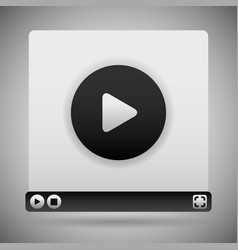 Video player template black color scheme vector