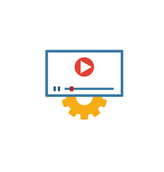video services icon simple flat element from vector image