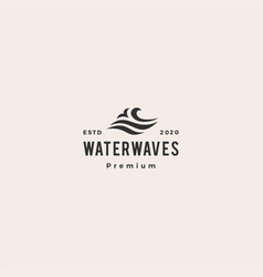 wave water sea logo icon hipster vintage retro vector image