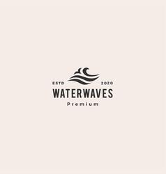 wave water sea logo icon hipster vintage retro vector image