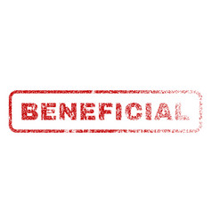 beneficial rubber stamp vector image