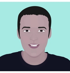 face man design element vector image