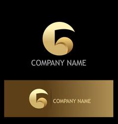 gold letter g logo vector image vector image