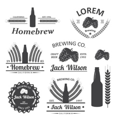 Beer brewery labels vector image vector image