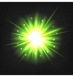 Bright green explosion vector