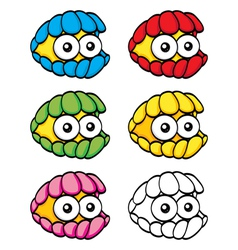Cartoon clam vector image vector image