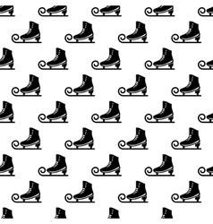 Ice skate pattern seamless vector image