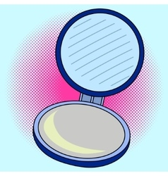 Pocket mirror Pop art vector image vector image