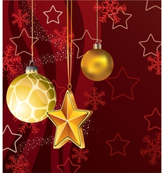 winter holiday decoration vector image vector image