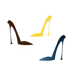 A high-heels are placed vector image vector image