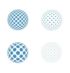 abstract globe logo template vector image