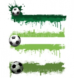 grunge football banners vector image