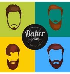 Mans hair set of beards and mustaches vector image vector image