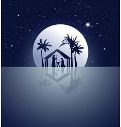 Nativity scene vector image vector image