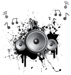 speakers playing music vector image