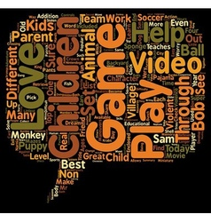 Top Video Games For Children Ages text background vector image vector image