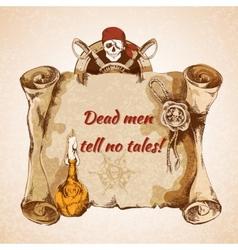 Vintage pirates background vector image