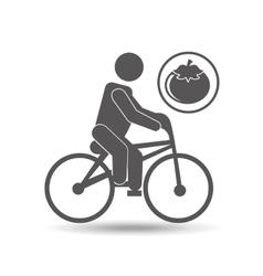 man silhouette riding bike design vector image vector image