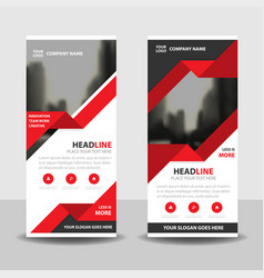 red triangle business roll up banner flat design vector image vector image