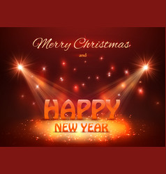 2018 happy new year greeting background with vector image
