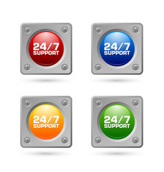 247 support icons vector