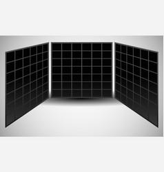 3 pane video wall vector