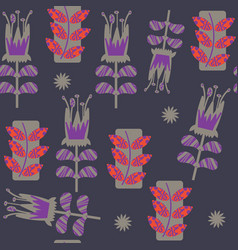 abstract floral seamless pattern it is lcoated vector image