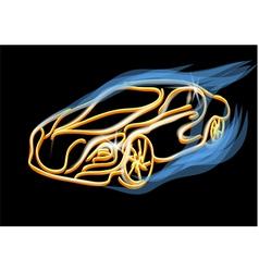 Abstract golden car vector