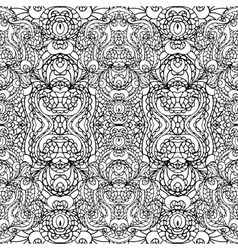 abstract symmetry swirl seamless patternoutline vector image