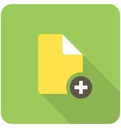 Add file icon vector