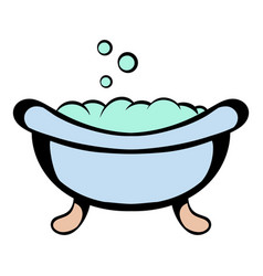 baby bath icon cartoon vector image