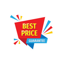 best price guarantee - concept badge design vector image