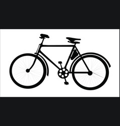 Bicycle black vector