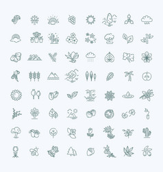 big natural icon set vector image