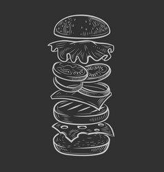 Black burger vector