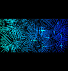 blue background in lights and fireworks vector image