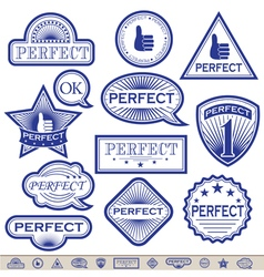 Blue Labels Perfect vector image