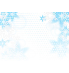 bright blue snowflakes background vector image