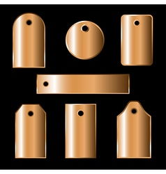 bronze labels vector image