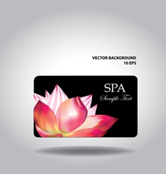 Business card with flower vector