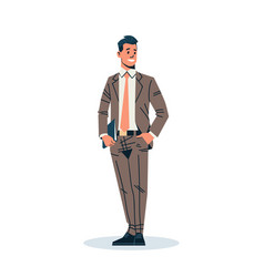 Businessman holding documents folder business man vector