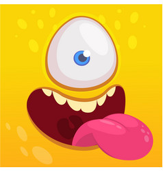 cartoon happy funny aline character one eye vector image