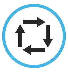 Circulation Arrows Flat Icon vector